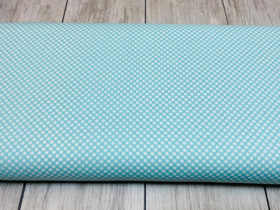 Dots & Stripes - Dot Com - Seafoam Fabric- Cotton and Steel-RJR- 2961-001- Sold by the 1/2 yard or the yard