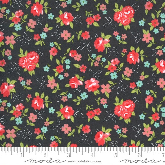 Sunday Stroll Grey, 55222 18 Moda, By Bonnie and Camille, for Moda, Sold by the 1/2 yard or the yard