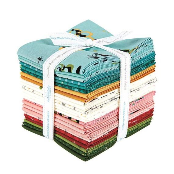 Mod Meow Fat Quarter Bundle, By Amanda Niederhauser for Riley Blake