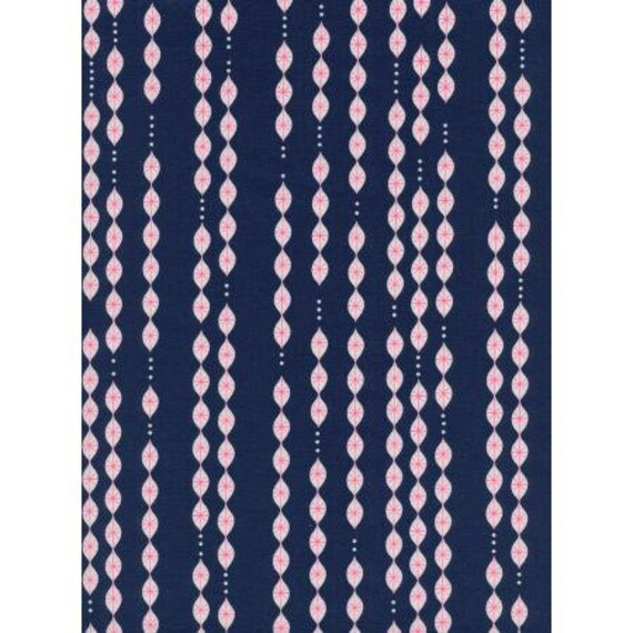 M0049-001 Jubilee - Lanterns - Navy Unbleached Cotton Neon Pigment Fabric- Cotton and Steel- RJR- Sold by the half-yard or the yard