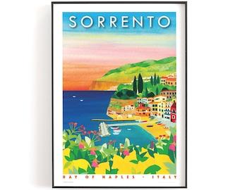 SORRENTO PRINT A5 or A4. Sorrento travel poster | Italy travel poster | Italy print | Amalfi Coast print | A4 print