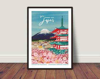 Mount Fuji, Japan print A5 or A4
