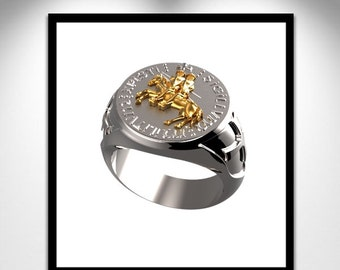 Bookmark of TEMPLAR _ Signet Ring of the Knights TEMPLAR