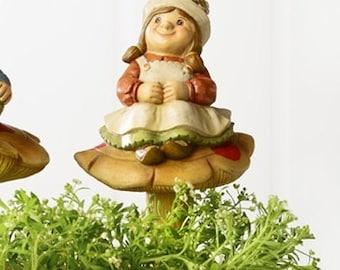 Gnome Lady On Mushroom