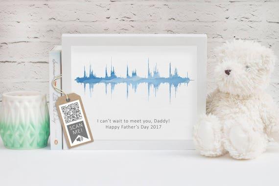 Baby Herzschlag Soundwelle Vatertag Papa Geschenk Neue Baby Geschenk Erste Muttertag Neue Eltern Sound Welle Kunst Heartbeat Kunst