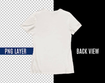 Transparent Png Blank White Back T Shirt Apparel Design Mockup Back View Fashion Photography Mock Up Shirt Top View Photoshop Png Layer Free Mockups Psd Template