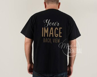 blank man s black t shirt apparel mockup fashion design etsy