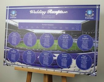 Everton FC Wedding Table Plan A1