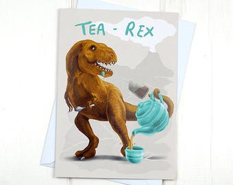 Frieseratops Pun Card Dinosaur Greeting Card Triceratops Etsy