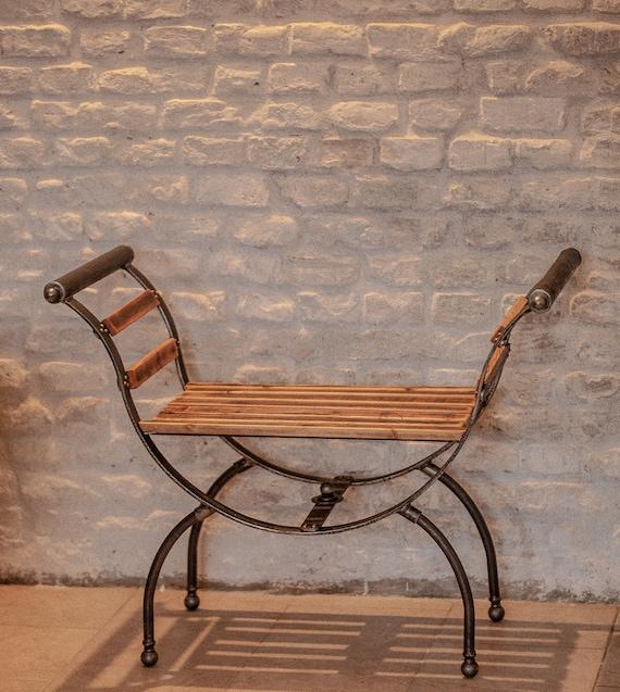 Stuhl Metallmobel Industrial Foot Bench Dumper Industrial Design Shabby Chic Bank Bench Vintage