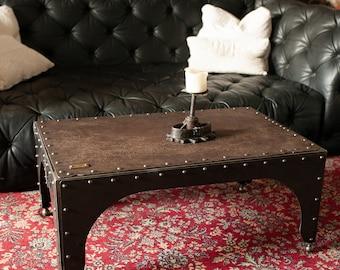COFFEETABLE COFFEETABLE INDUSTRIAL Iron Furniture Side Table Workshop Stool Vintage riveted rivet industrial design furniture interior