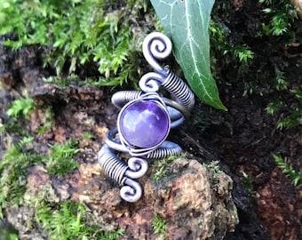 Crystal Dreadlock Bead Amethyst Crystal Hair Ring Angelite Loc Jewelry Pyrite,Jade,Black Onyx Crystal Healing Dreadlock Accessory