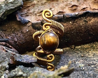 Crystal Dreadlock Beads, Lapis Lazuli, Black Onyx, Tigers Eye, Pyrite, Aventurine , Loc Jewelry, Dread Beads, Dreadlock Accessories