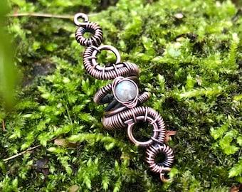 Labradorite Dreadlock Beads, Dreadlock Jewelry, Dreadlock Sleeve, Dread Beads, Crystal Loc Beads, Viking Hair Beads, Hair Beads