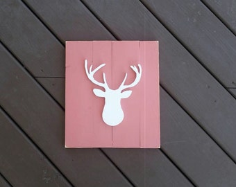 Nursery Deer Head Sign, Nursery Decor, Rustic Nursery Decor, Nursery Wall Decor, Girl Nursery Decor, Signs, Wood Signs, Nursery Signs