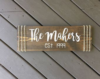 Last Name Wood Sign, Name Wood Sign, Personalized Wood Sign, Custom Wood Sign, Personalized Signs, Wood Signs, Signs, Home Decor