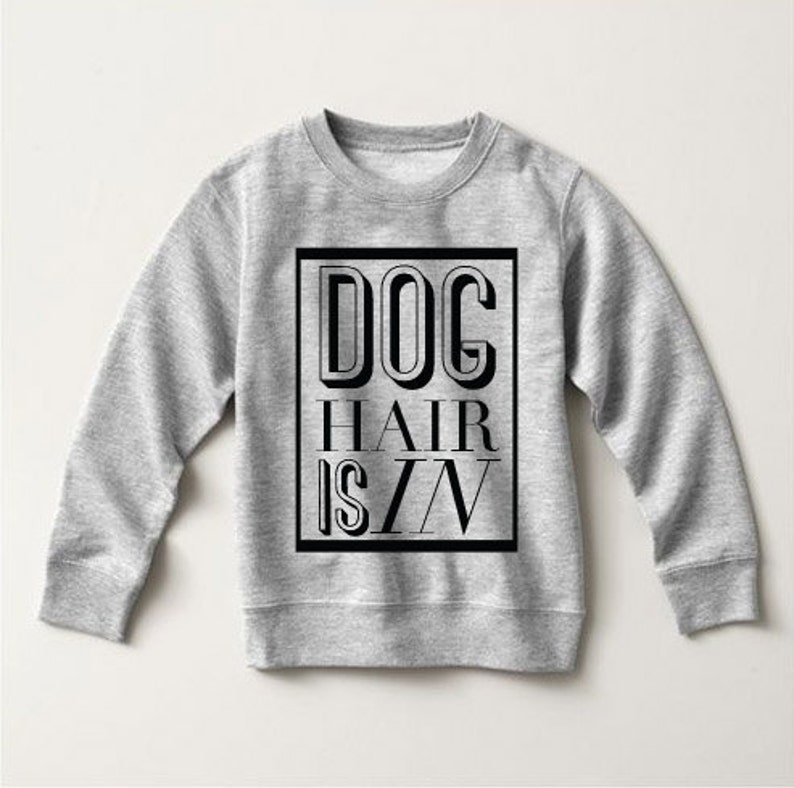 Dog Hair Don/'t Care Typography Baby Sweater Dog Lover Pick a Style Toddler OR Youth Sweatshirt or Hoodie Dog Hair is In