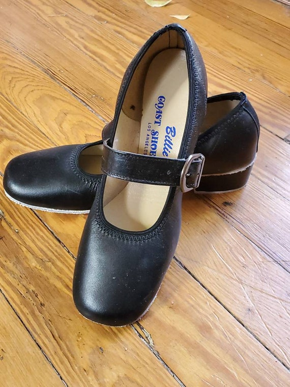 70s 80s ~ Vintage Deadstock ~ BASKET Square Dance Shoes by COAST ~ Mary Janes Black or Brown Sizes 5 6 6.5 7 Medium Width