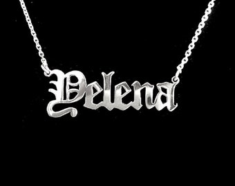 Sterling Silver Old English Personalized Custom Name Pendant - Custom Name Pendant - Name Necklace - Name Pendant - Name Jewelry - Pendant