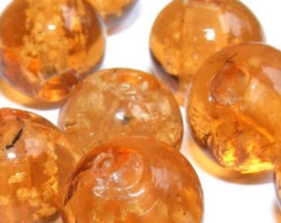 10 perles luminous [gold] 10mm