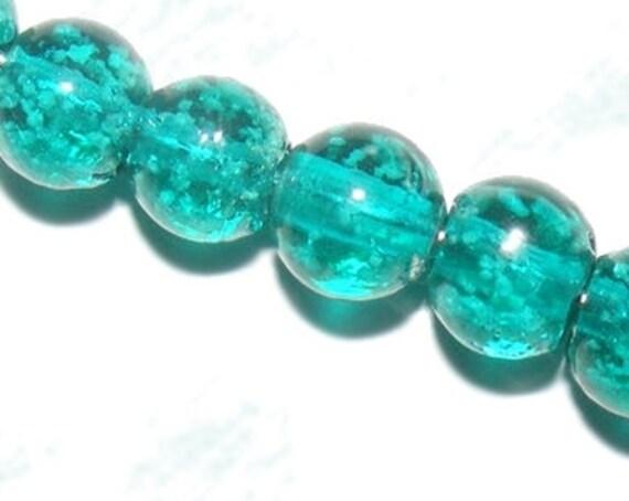 10 perles Luminous [DarkTurquoise] 8mm