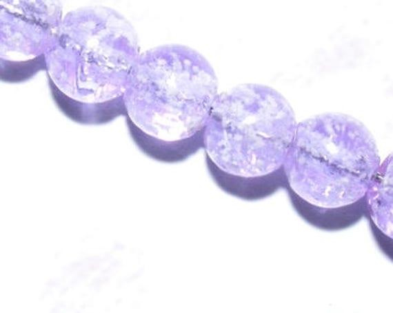 10 perles Luminous [Lilac] 8mm