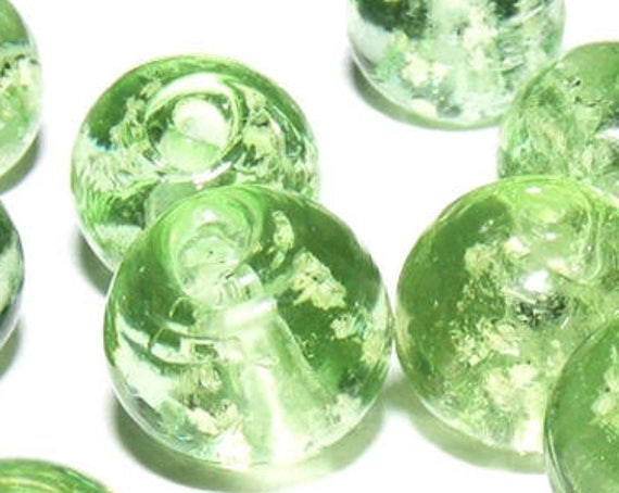10 perles luminous [SpringGreen] 10mm