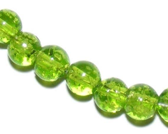 10 Perles Lampwork [YellowGreen] 6mm