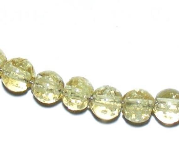 10 Perles Luminous [CornSilk] 6mm