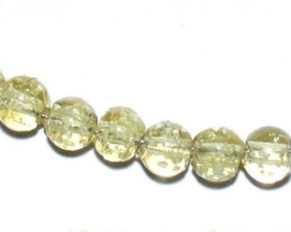 10 perles Luminous [CornSilk] 8mm