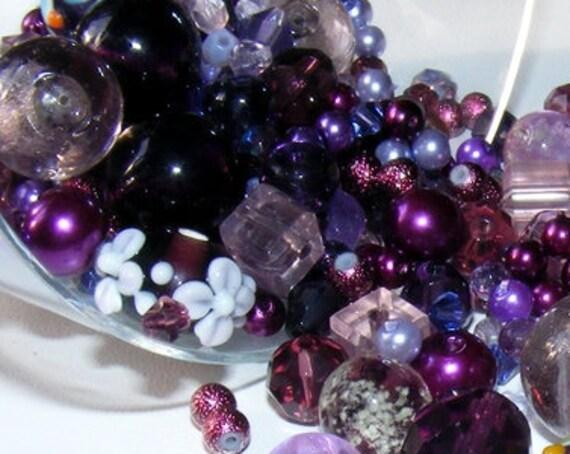 50g de perles violettes