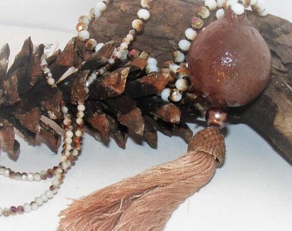 Sautoir pompon [Style Oak II]