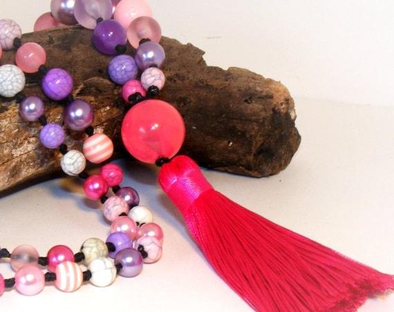 Sautoir pompon [Pink Tassel]