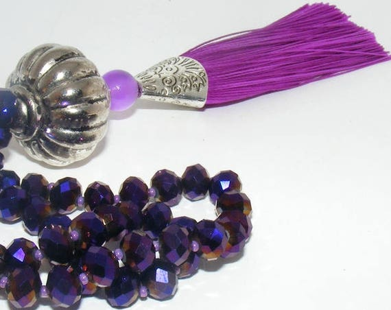 Sautoir pompon [Purple River]