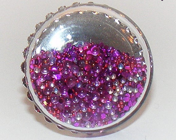 Bague globe [Purple balls]