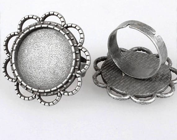 Support de bague 18 mm [Vintage flower]