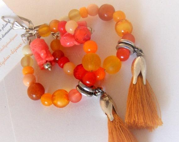 Boucles d'oreilles [Créoles oranges]