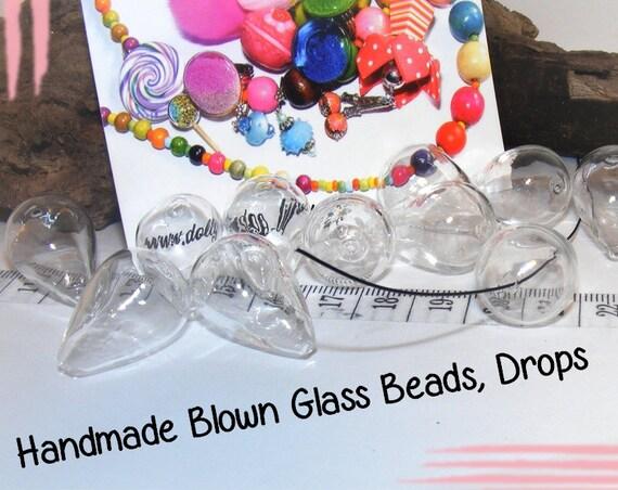 2 perles globes goutte 30 mm