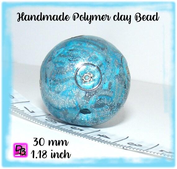 1 Perle unique [Kashmiri] 30 mm