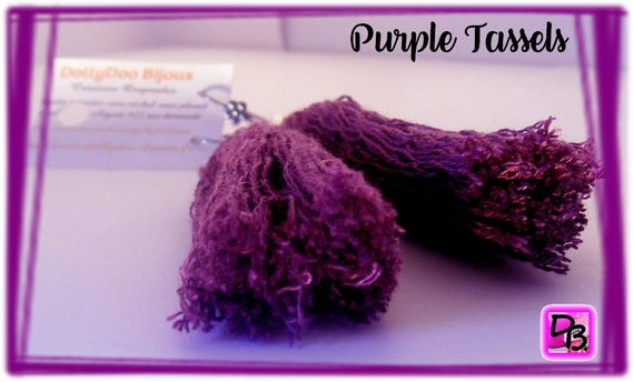 Boucles d'oreilles [Purple Tassels]