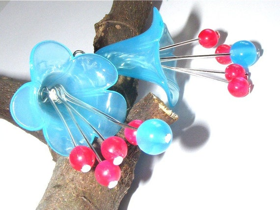 """DIY"" Kit earrings to make yourself [Petunias."