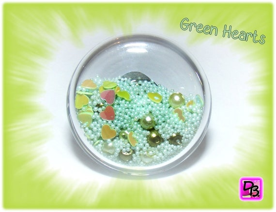 Bague globe [Green Hearts]