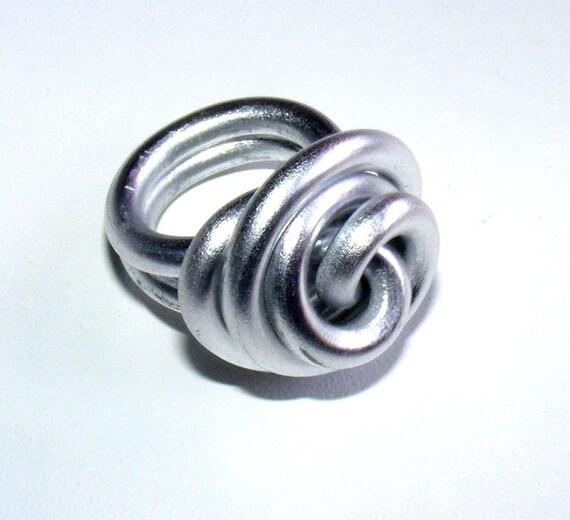 Ring size 54 Silver Aluminum wire creator [Meringue]