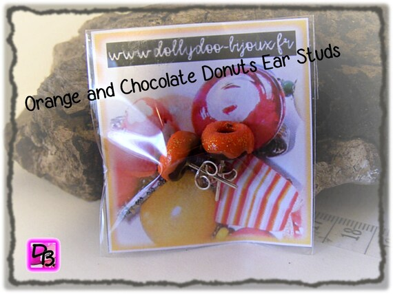 Puces Donuts Chocolat Orange