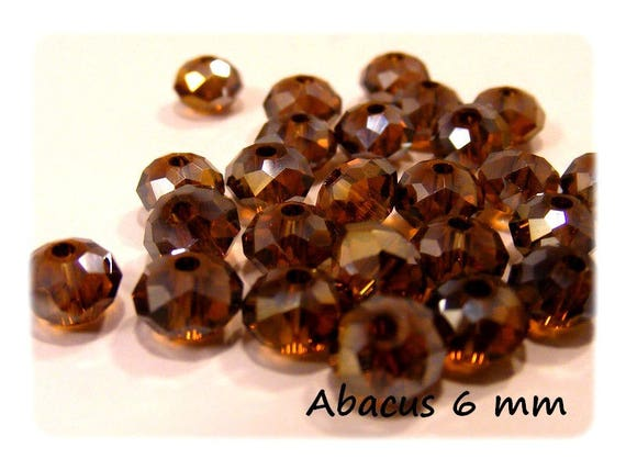 Boho Abacus faceted colored Smocked Topaz 25 x 6 mm Crystal beads