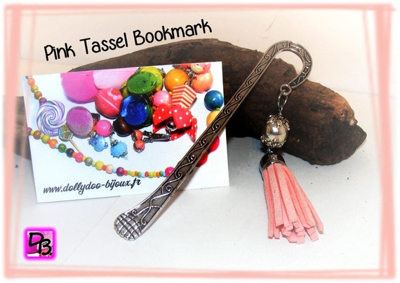 Marque-pages [Pink tassel bookmark]