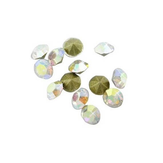 10 Strass Diamant 3 mm Clear AB Color