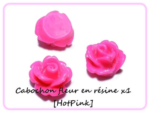 Cabochons flowers 10 mm x 1 [HotPink]
