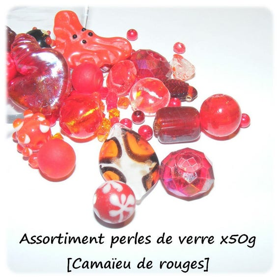 Assortment of beads [shades of Red] x50g