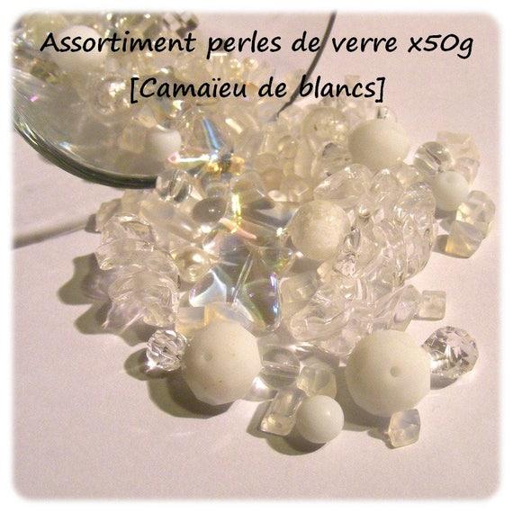 Assortment of beads [White monochrome] x50g